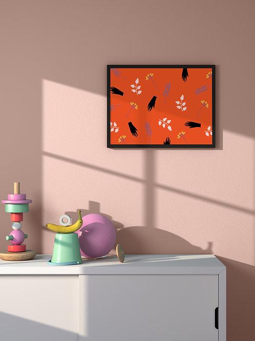 Floral Pattern   Framed Poster