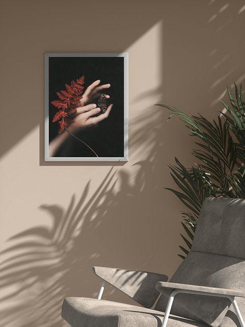 Sanguine natura | Framed Poster
