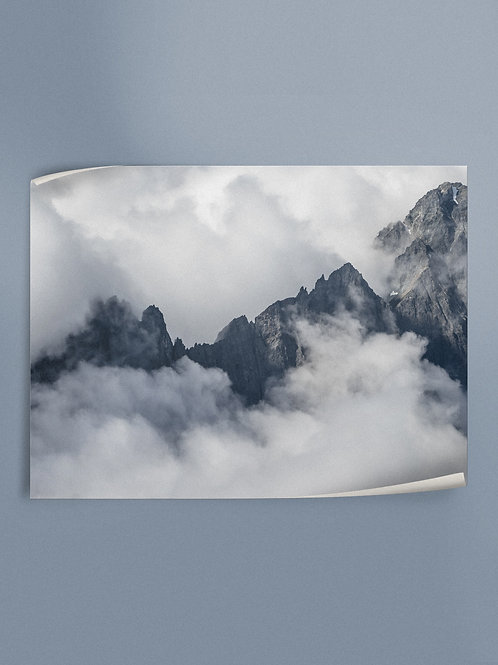 Cloudy Cascade Peaks | Poster