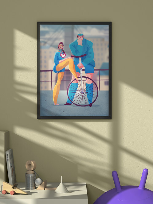 Circus is Coming to Downtown | Framed Poster