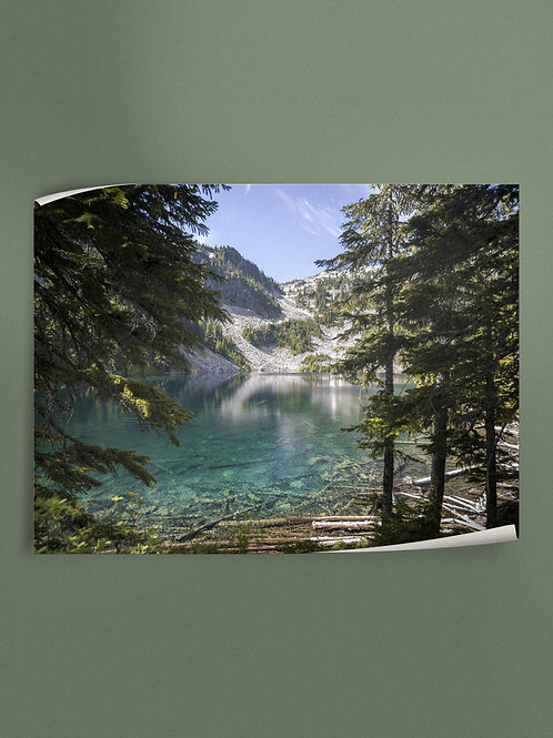 Crystal Clear Alpine Lake | Poster