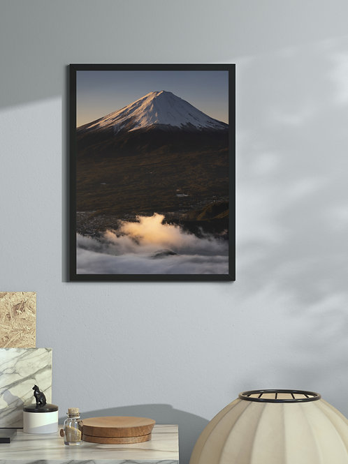 Glowing clouds | Framed Poster