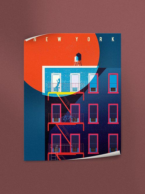 Blood Moon New York | Poster