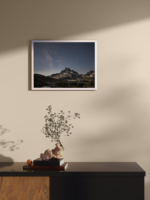 Eastern Sierra Night Sky | Framed Poster
