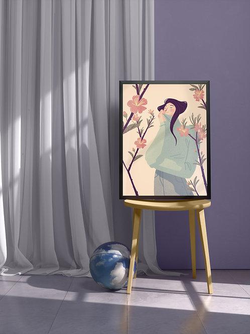 Almond Tree Blossom | Framed Poster