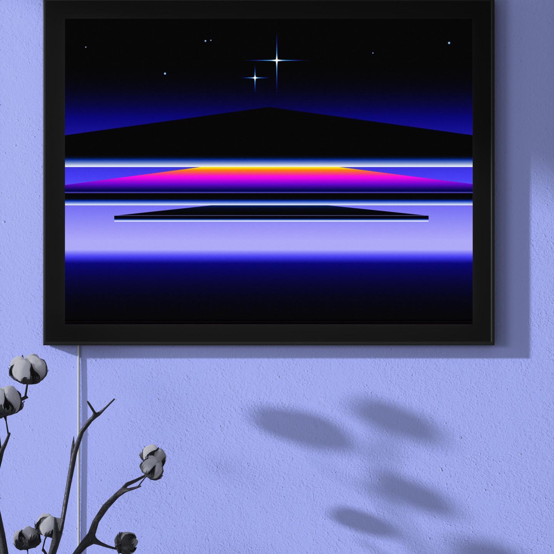 Orbit by Odysseus in lightbox backlit frame