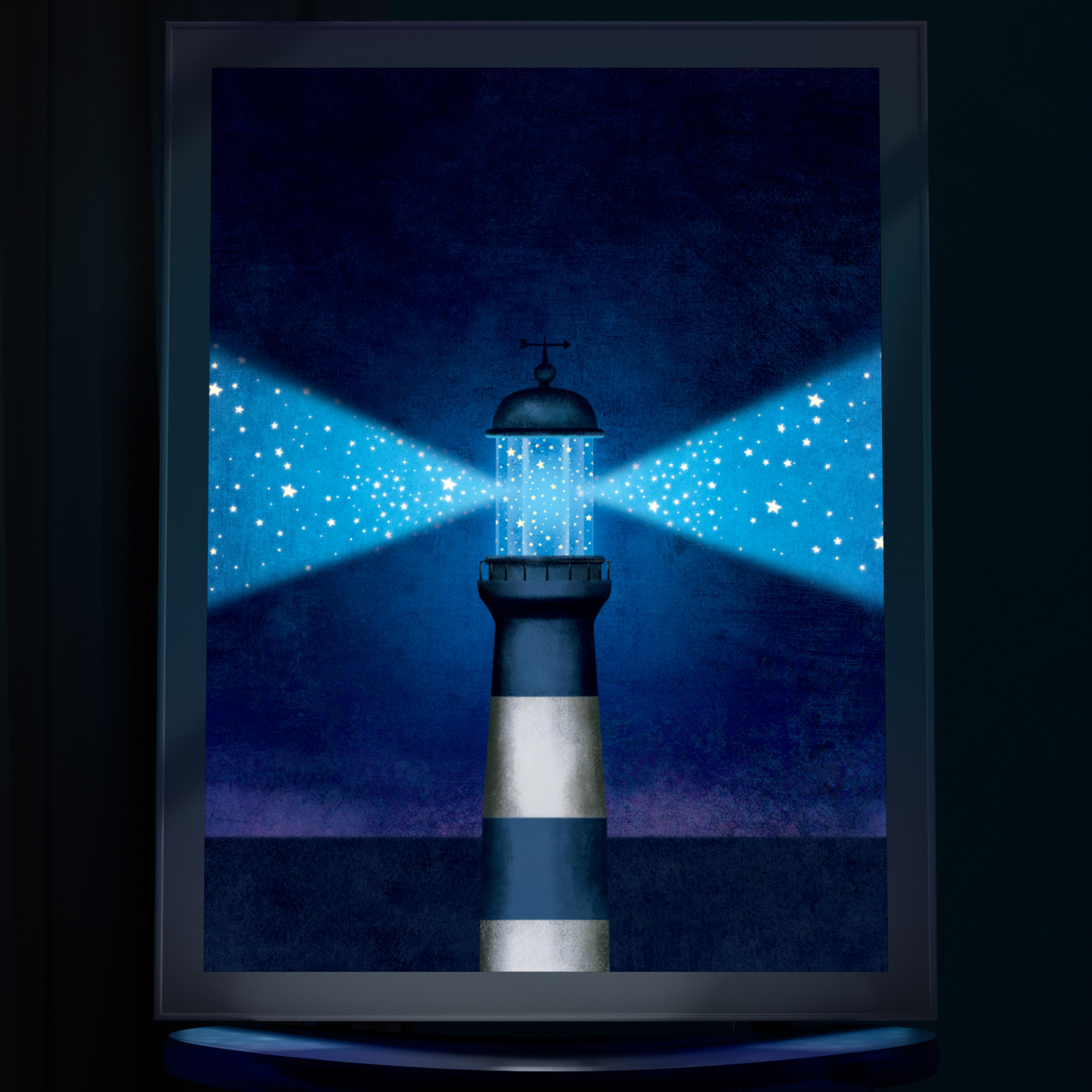 Lighthouse - Backlit wall art for nursery