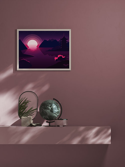 Japanese Scenery | Framed Poster