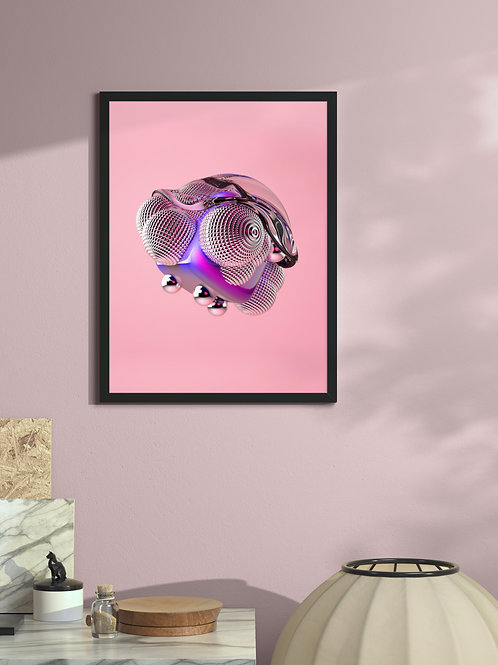 Melting objects 01 | Framed Poster