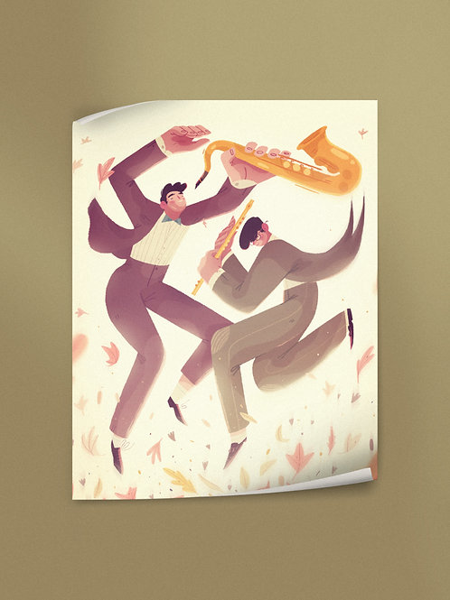 Musicians in Autumn | Poster