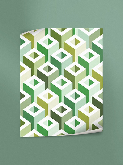 Geometric Pattern: Tube: Spring   Poster