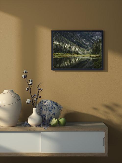 Alpine Reflection   Framed Poster