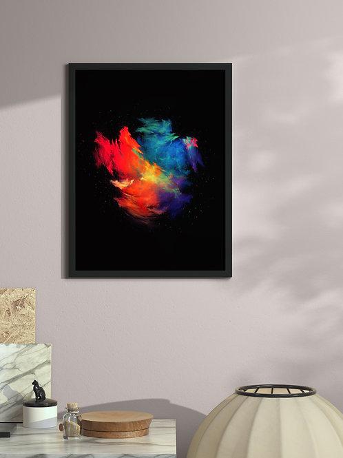 Prism - Galaxy Merger | Framed Poster