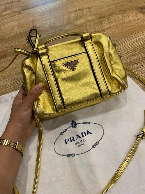 Prada Gold Crossbody