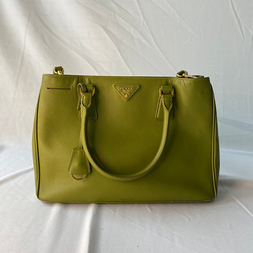 Mini Prada Saffiano Lime Green Bag