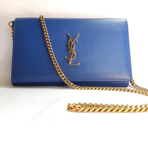 Blue YSL Monogram Kate Bag