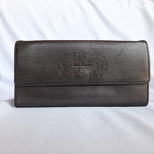 Salvatore Ferragamo Patent leather continental style wallet