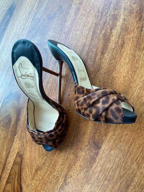 Louboutin Furry Leopard Heels
