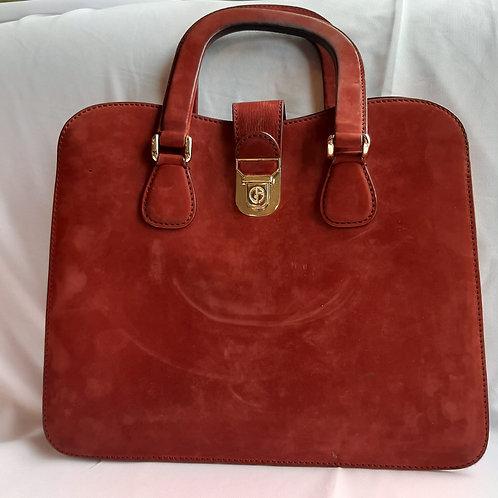 Suede Georgio Armani briefcase bag