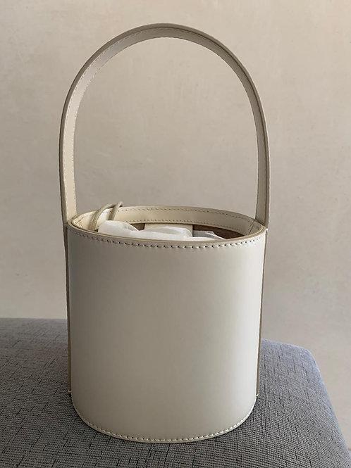Staud White Bucket Bag