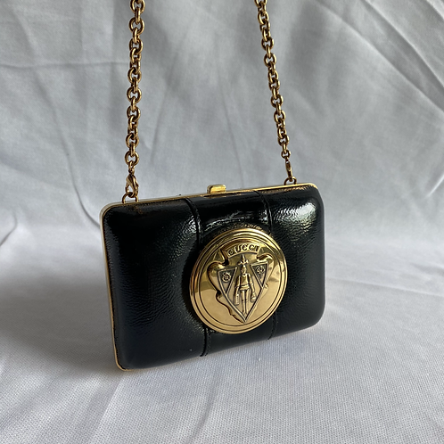Black and Gold Gucci Mini bag