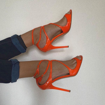 Jimmy Choo Neon Orange Heels