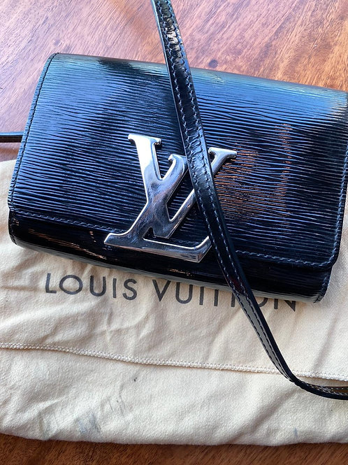 Louis Vuitton Black Patent Clutch