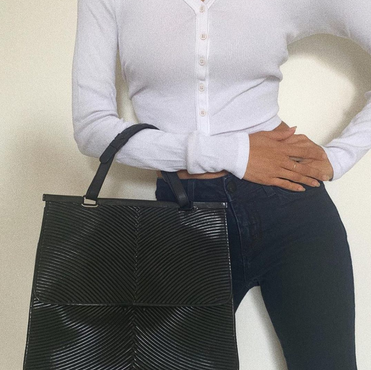 Bottega Vaneta Black Tote