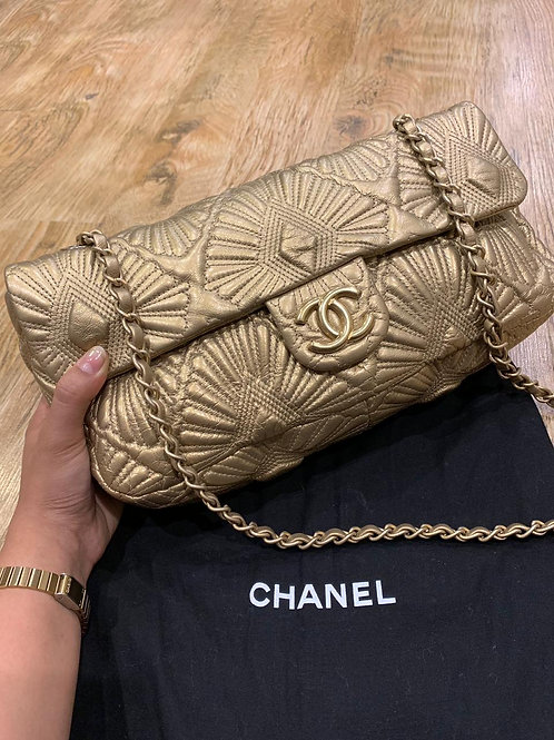 Chanel Ca D'oro Gold Leather Bag
