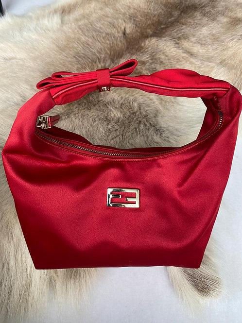 Fendi Silk Red Bag