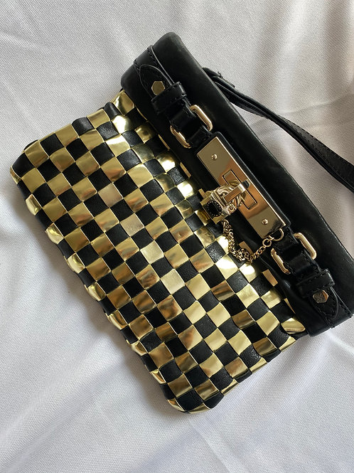 Marc Jacobs Gold and Black Clutch