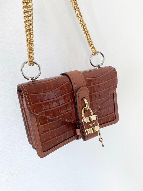 Chloe Chestnut Brown Croco Effect Bag
