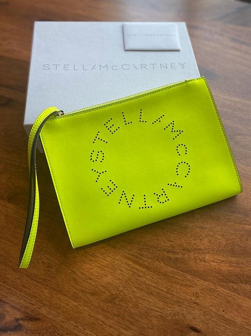 Stella McCartney Vegan Leather Logo Clutch