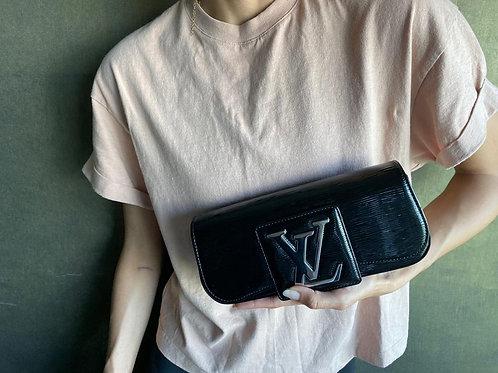 Louis Vuitton Sobe SoBe Black Epi Leather Clutch
