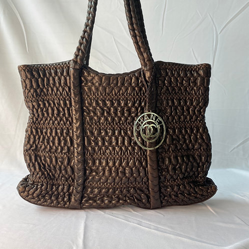 Chanel Chocolate Brown Leather Tote