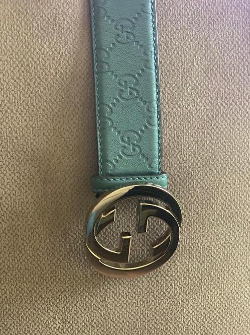 Gucci Light Blue Belt