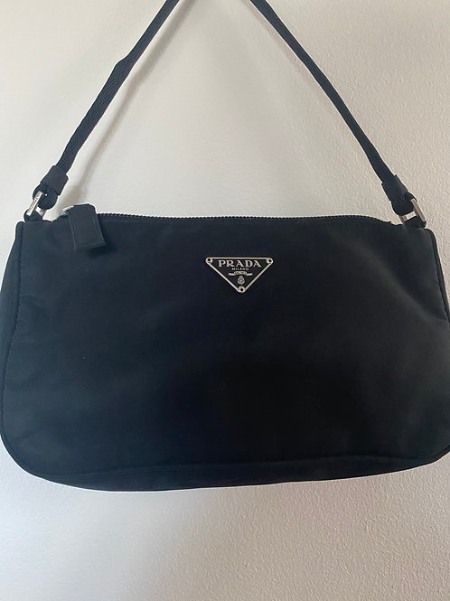 Vintage black mini Prada nylon