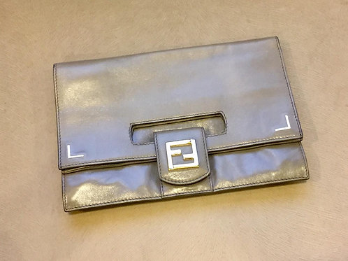Fendi Silver Clutch