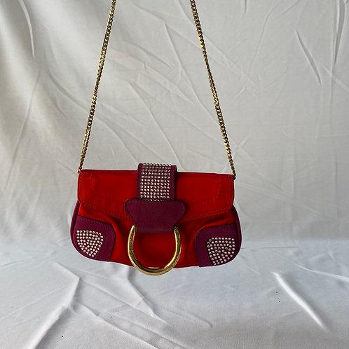 Dolce & Gabbana Red Purple Clutch