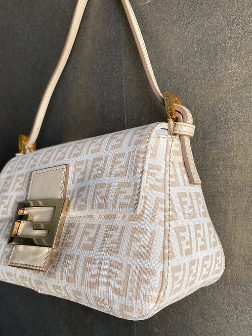 Fendi Mamma Pink Cotton Baguette