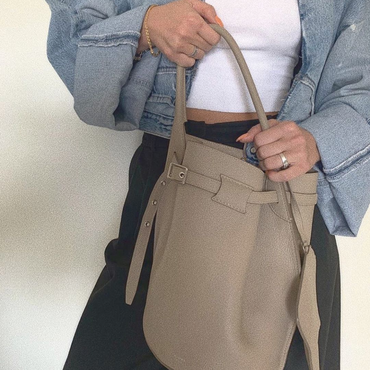 Celine Grey Bucket Bag