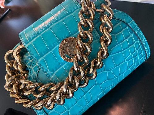 Versace Blue Chain Mini