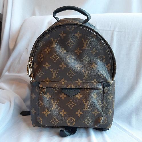 Louis Vuitton Monogram Macassar Palm Springs PM Backpack