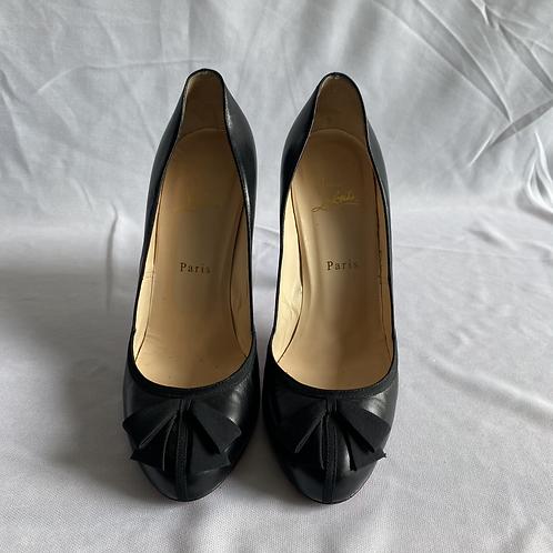 Louboutin Black Open Toe Heel