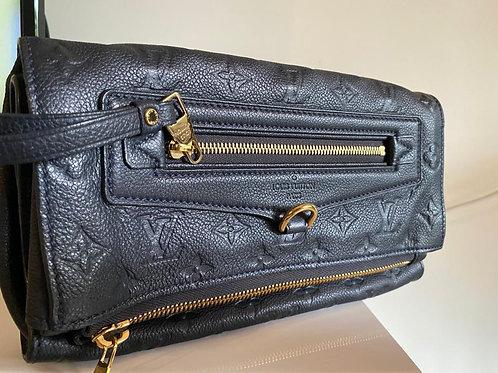 Louis Vuitton Black Leather Clutch