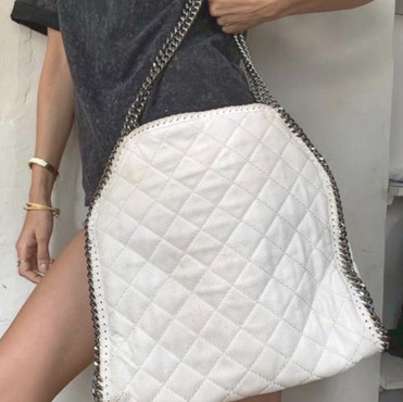 Stella McCartney White Quilt Bag