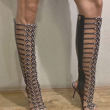 Sophia Webster Fantasia Black and White Gladiators