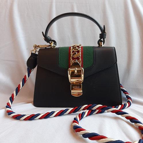 Gucci Slyvie Leather mini chain bag