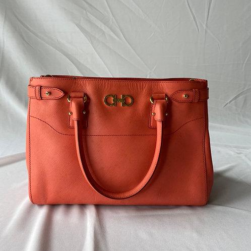 Ferragamo Leather Gancio Satchel