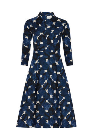 AW18 - Ready to Wear - Navy Fruit Dot Dr